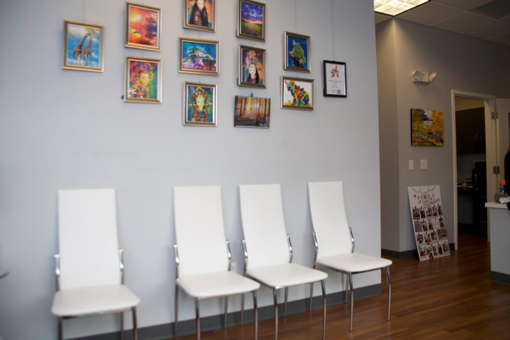 Rhoads orthodontics office waiting area